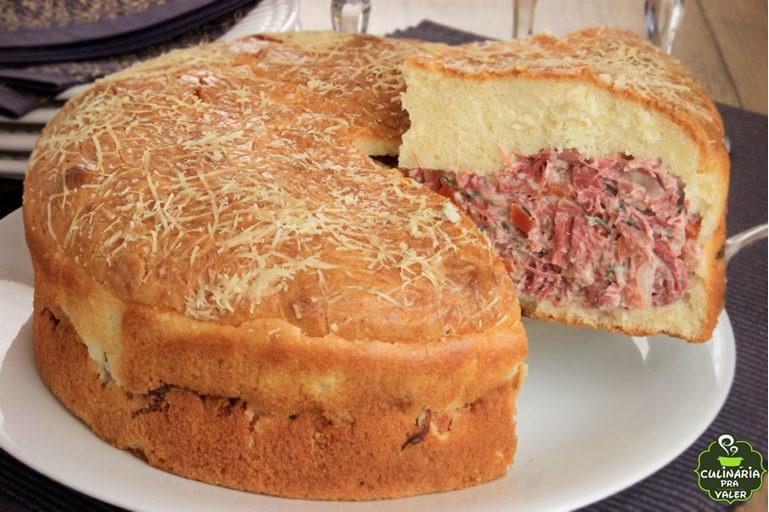 Torta de Batata com Carne Seca