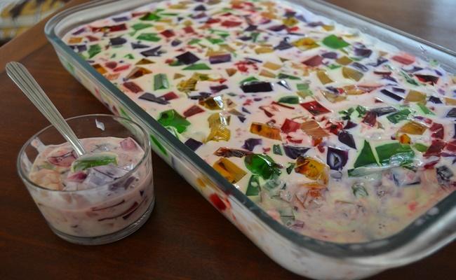 Gelatina mosaico fácil e prática de fazer