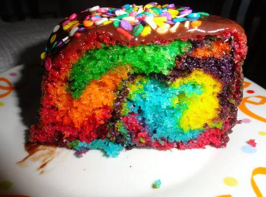 Receita de bolo arco-íris
