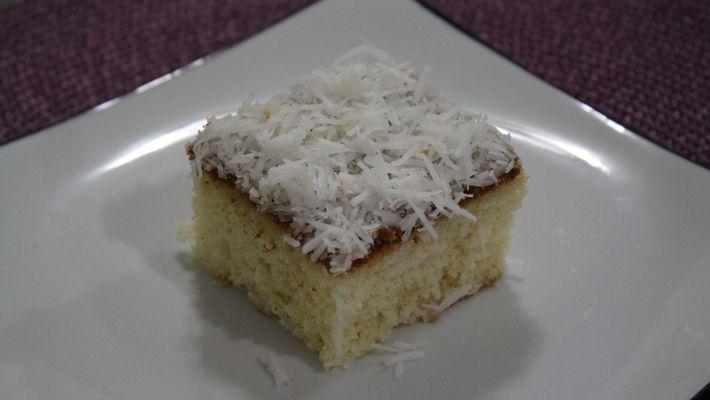Receita de bolo de coco de liquidificador