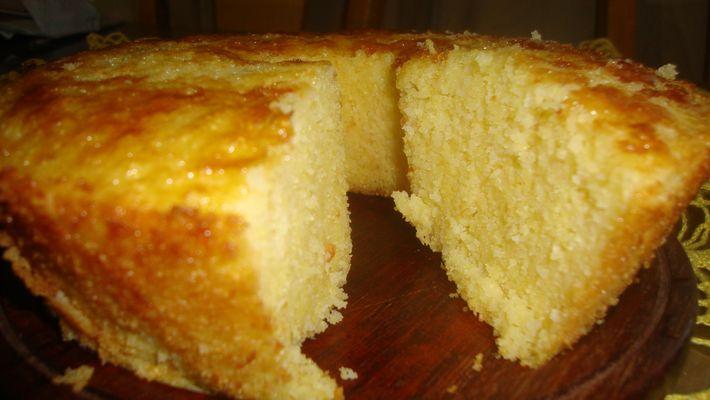 Receita de bolo de milharina cremoso