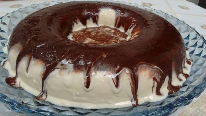 Receita de bolo de sorvete de chocolate