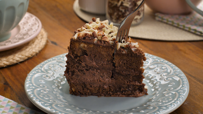Receita de bolo mousse de nutella