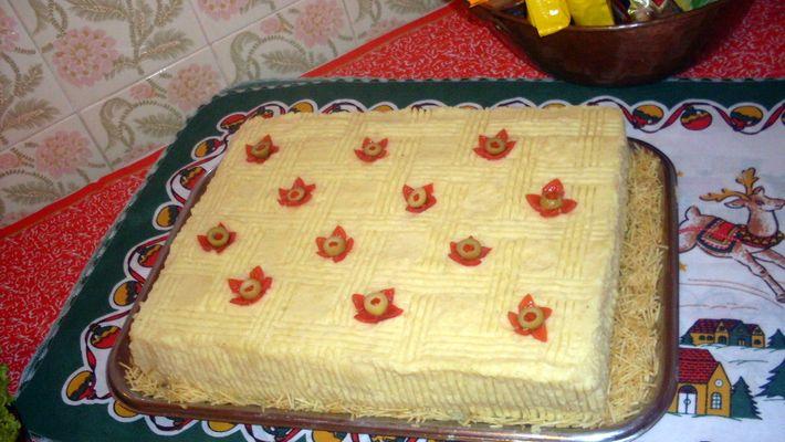 Receita de bolo salgado de frango