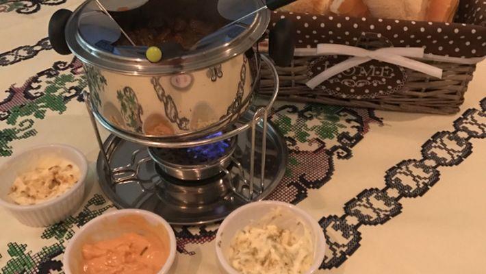 Receita de fondue de carne saudável