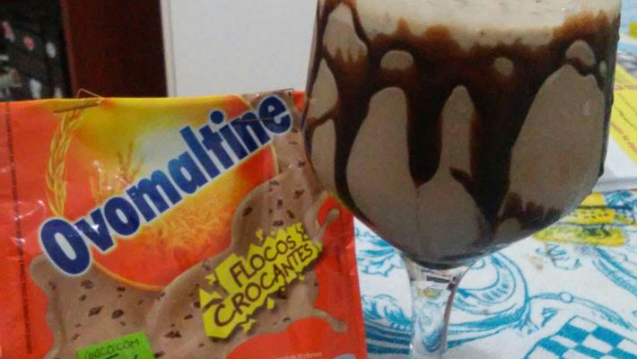 Receita de milk shake de ovomaltine