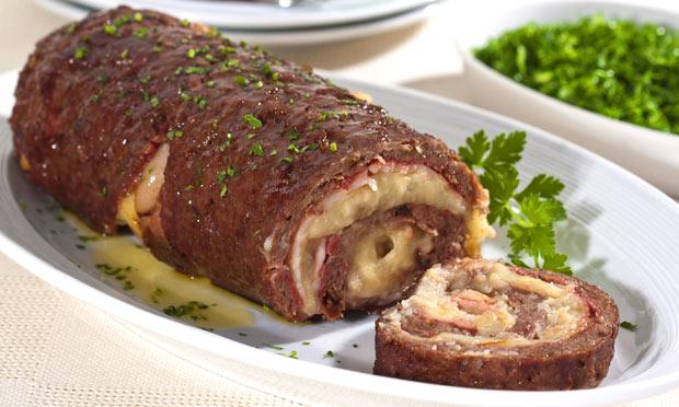 Receita de rocambole de carne moída maravilhoso