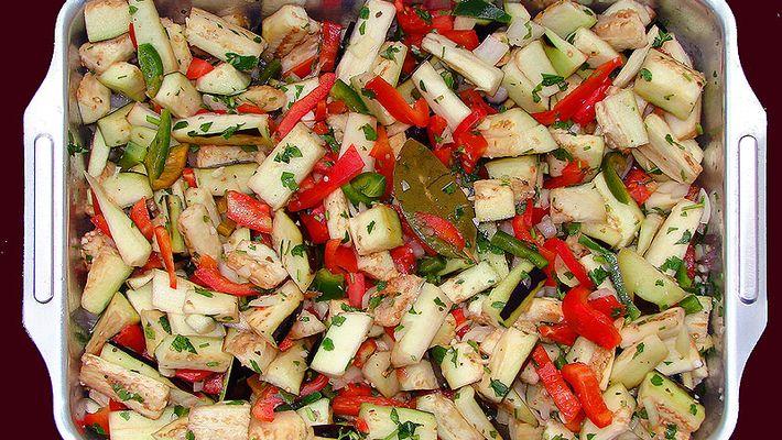 Receita de salada de berinjelas ao forno