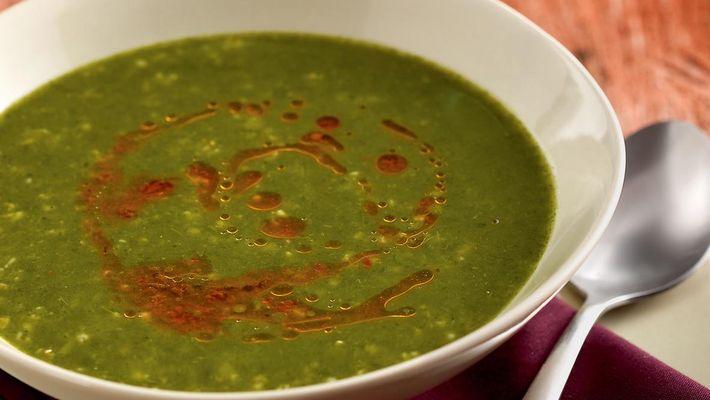 Receita de sopa de agrião com azeite de tomate seco
