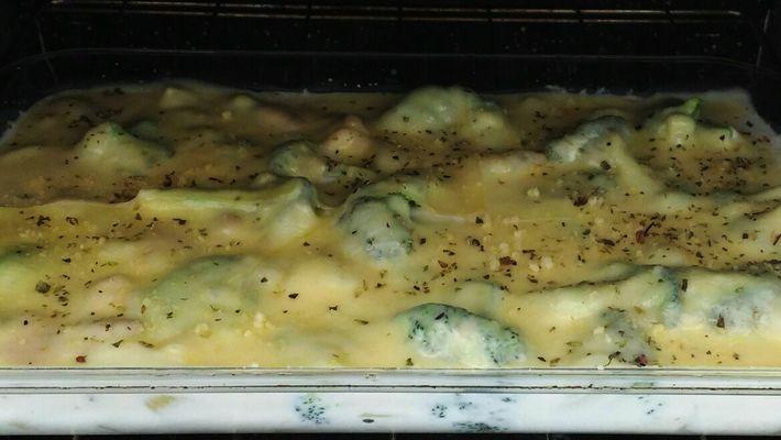 Receita de batata gratinada com brócolis e bacon