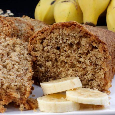 Receita de bolo de banana e aveia