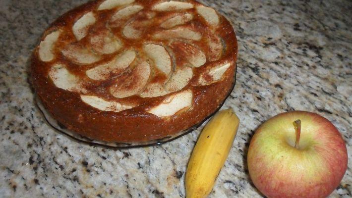Receita de bolo de banana e maçã