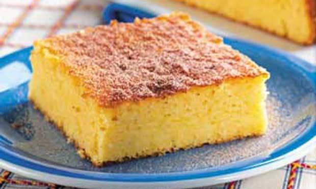 Receita de bolo de farinha de milho com queijo