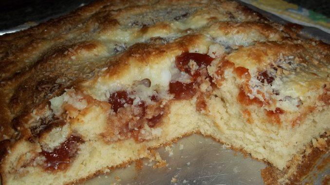 Receita de bolo de goiabada e coco