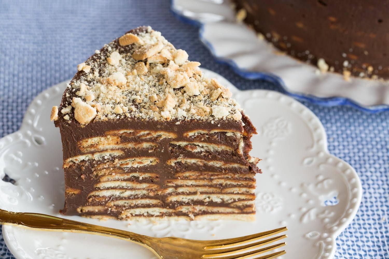 Receita de bolo de palha italiana