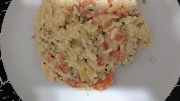 Receita de camarão com arroz de coco