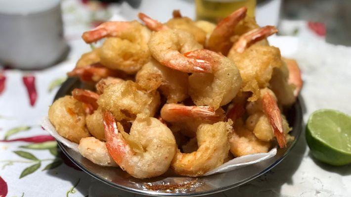 Receita de camarão empanado à chinesa