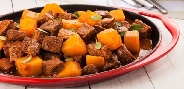 Receita de carne de panela com abóbora cabotia