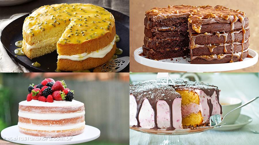Receita de cobertura e recheio para bolo de festa