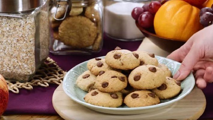 Receita de cookies fáceis de aveia
