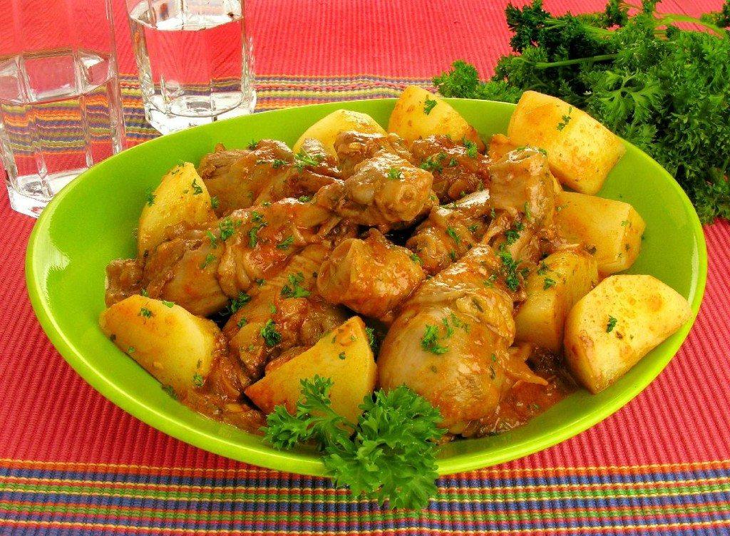 Receita de frango com batata