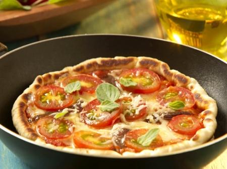 Receita de pizza de liquidificador na frigideira