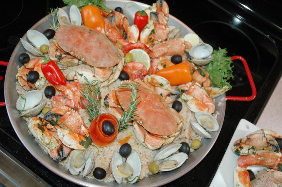 Receita de risoto de caranguejo
