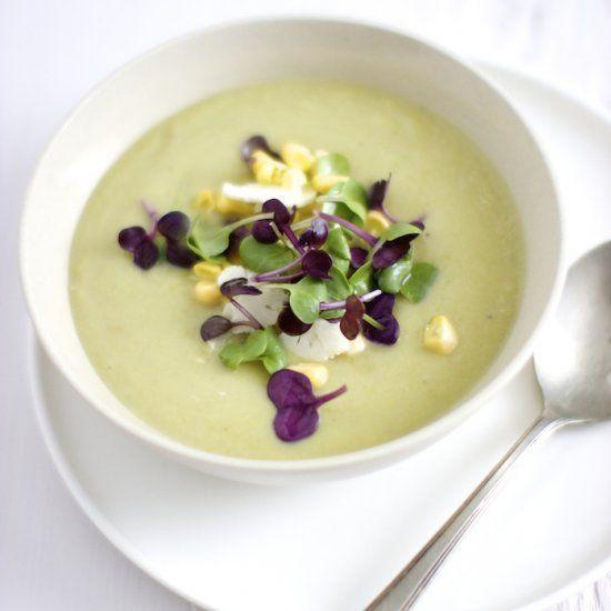 Receita de sopa cremosa de chuchu