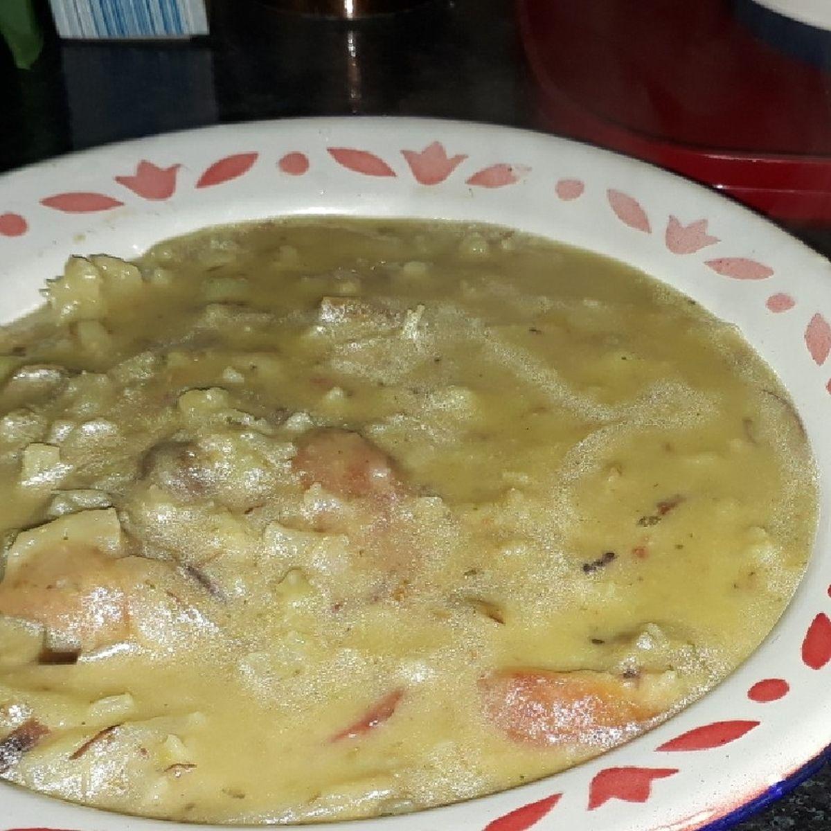 Receita de sopa de couve com costela desfiada