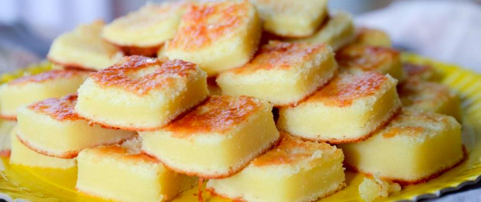 Bolo de queijo minas com leite condensado