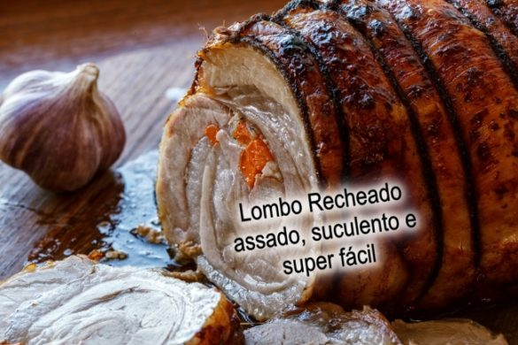 Lombo de porco assado recheado