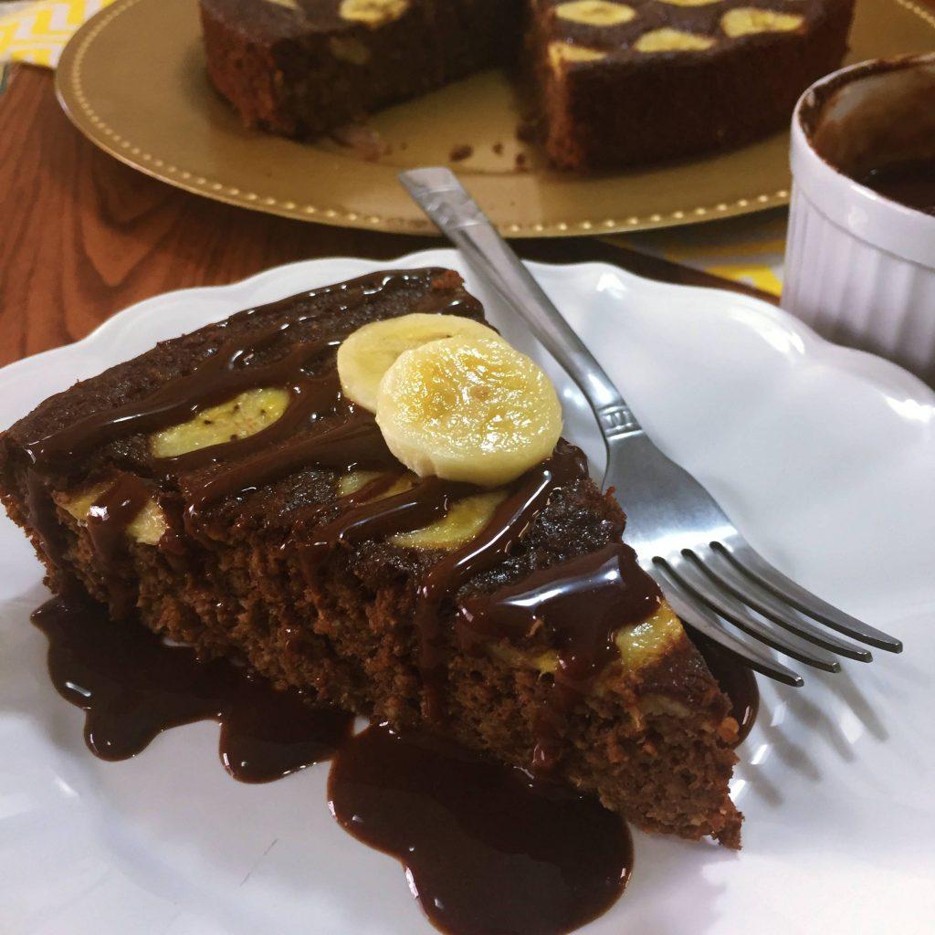 Receita bolo de banana com chocolate