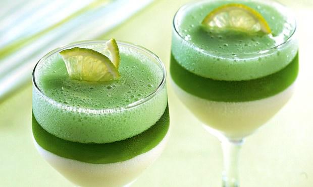 Receita de gelatina com creme de limão - fácil e rápida