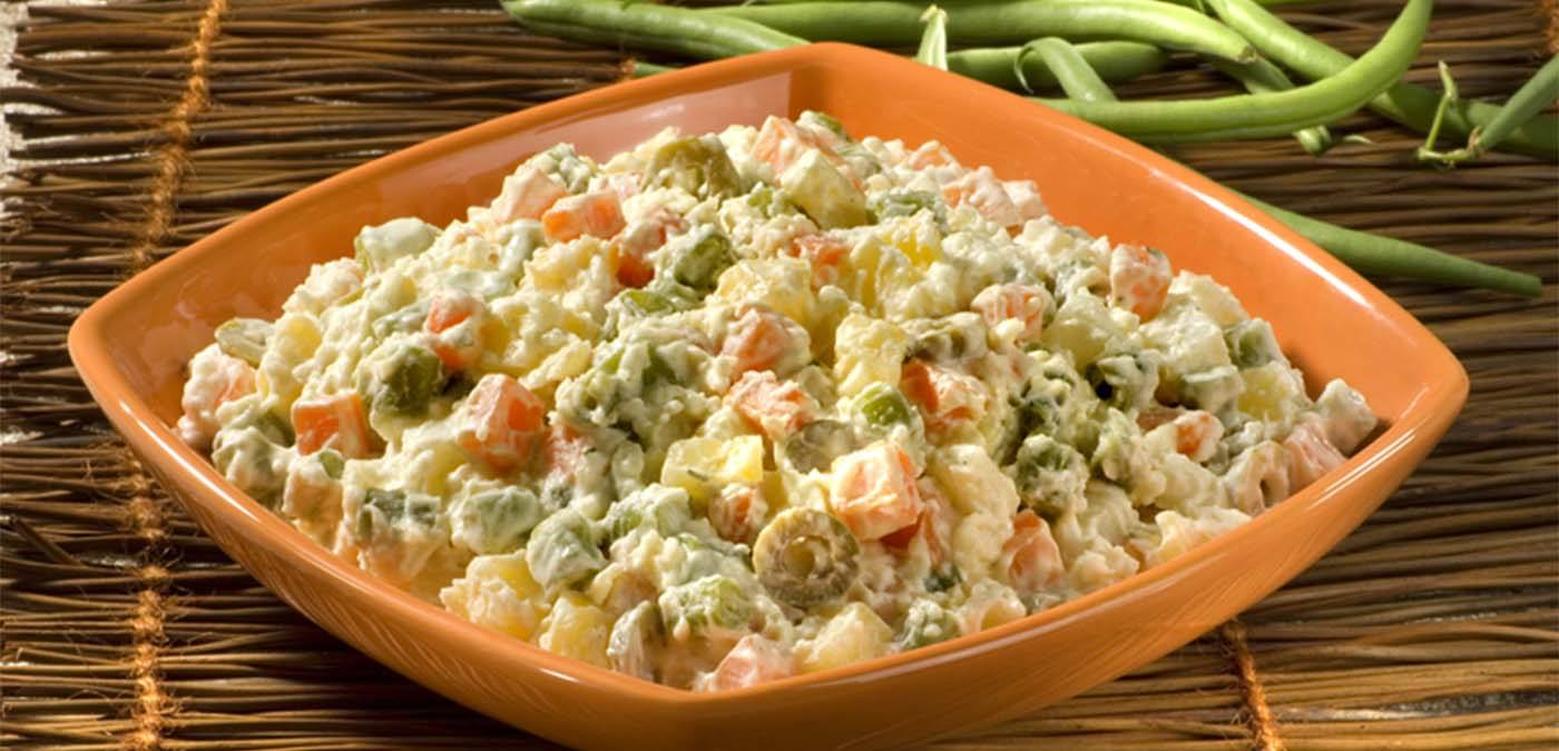 Receita de maionese de legumes para churrasco