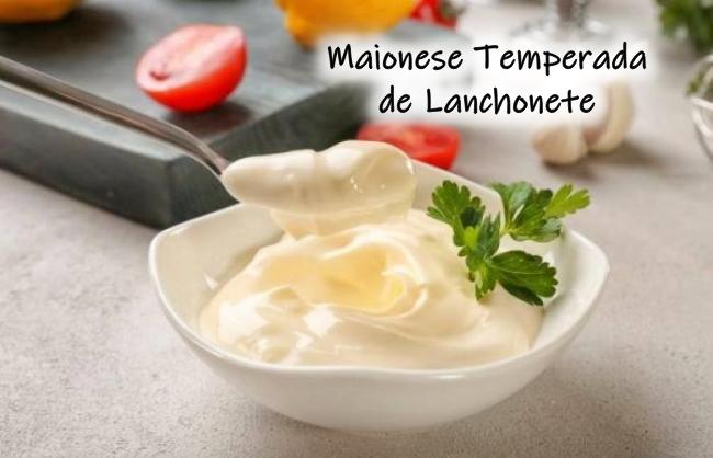 Receita de maionese temperada de lanchonete