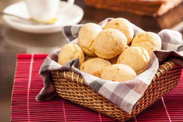 Receita de pão de queijo de cheddar