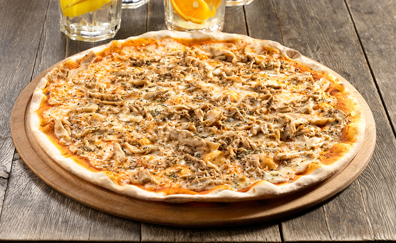 Receita de pizza fácil de frango