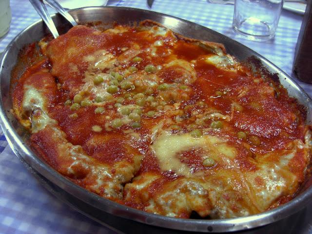 Receita de polenta recheada com frango desfiado