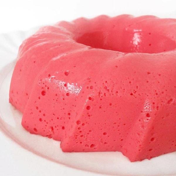 Receita de pudim de gelatina de morango fácil