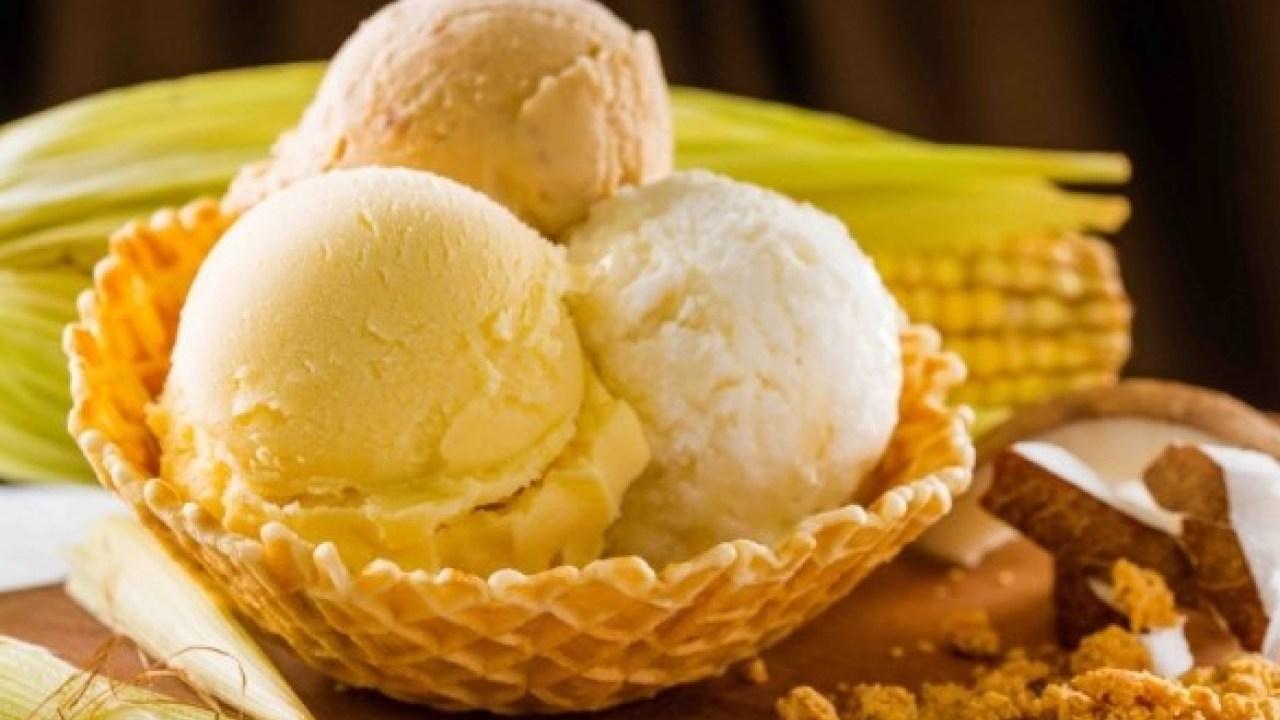 Receita de sorvete de milho verde natural