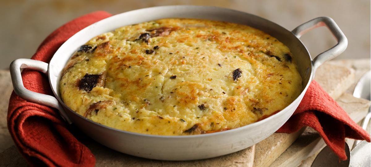 Torta de batata e sardinha