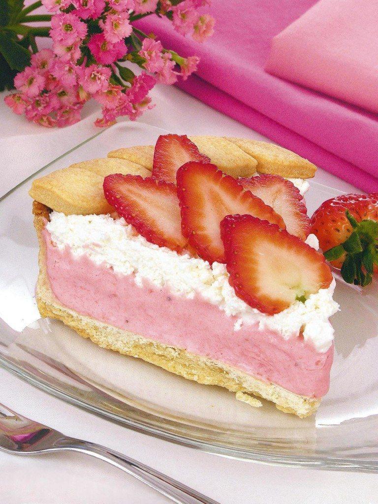 torta de sorvete de morango