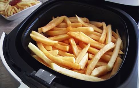 Batata frita no air fryer