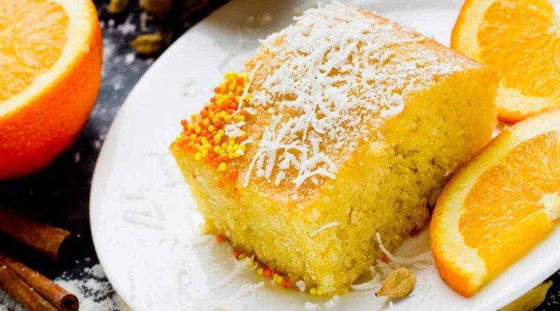 Bolo de laranja gelado
