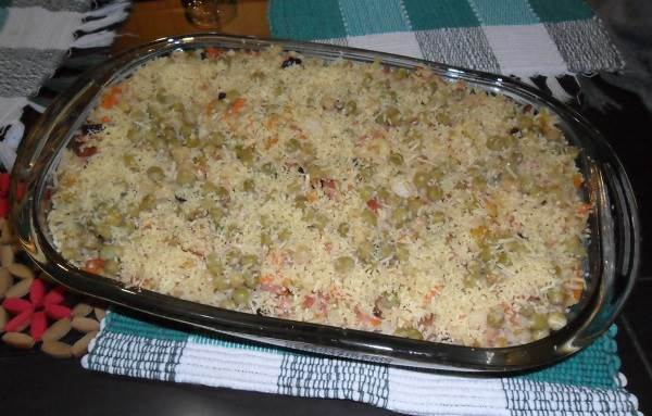 Como fazer arroz de forno de natal