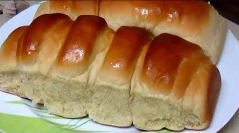Pão doce de liquidificador fofinho