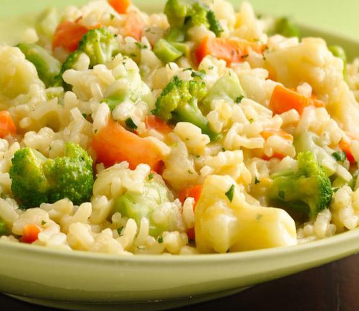Receita de risoto simples de legumes