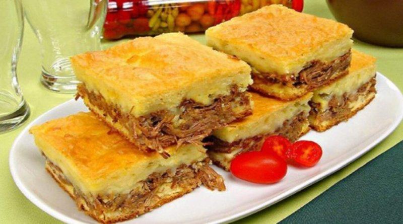 Receita torta de carne moida com mandioca e queijo