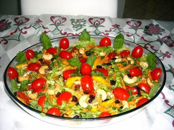 Saladas decoradas para o natal