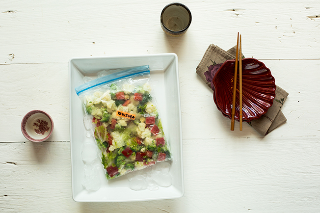 Seleta de legumes para yakissoba
